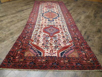 C1940 ANTIQUE PERSIAN JOZAN LILIHAN MALLAYER SAROUK 3.5x9.7 ESTATE SALE RUG