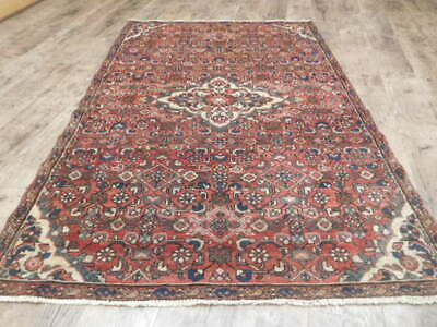 C1940 ANTIQUE PERSIAN JOZAN LILIHAN MALLAYER SAROUK 3.8x5.7 ESTATE SALE RUG
