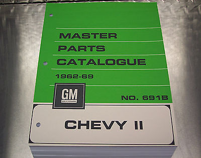CHEVY II NOVA MASTER PARTS CATALOG - July 69 printing