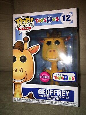 Funko POP! Geoffrey Toys R Us Exclusive Flocked Vinyl Figure #12 Ad Icons NEW