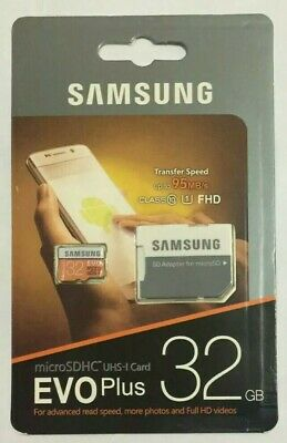 Samsung 32GB Micro SD Card SDHC EVO+ 95MB/s UHS-I Class 10 TF Memory Card HD 4K