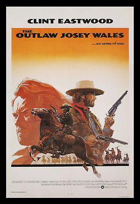 THE OUTLAW JOSEY WALES 30x40 Lobby Display Movie Theater