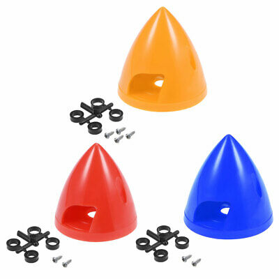 """Propeller Spinners for RC Planes 38mm-51mm Dia. 1.5''-2"""" Height Red Blue Yellow"""