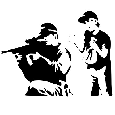 BANKSY THE END STENCIL REUSABLE FROM A4 180 micron