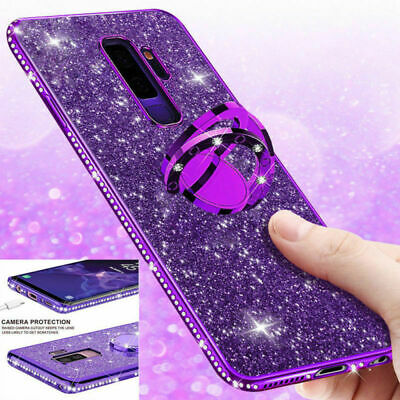 Samsung Galaxy S9 Note 9 8 Luxus Bling Ring Halter Handy Schutz Hülle Case Cover