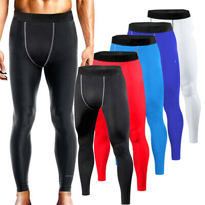 Mens Compression Pants Under Base Layer Running Tights Gym Wear Sports Clothes
