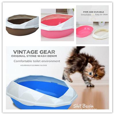 Kitty Cat Litter Box Removable Shell Easy To Clean with Scoop Easily Accessible