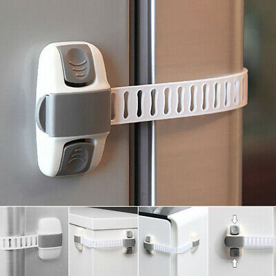 Fridge Guard Baby Safety Lock Kid Refrigerator Drawer Door Cabinet Belt Latch