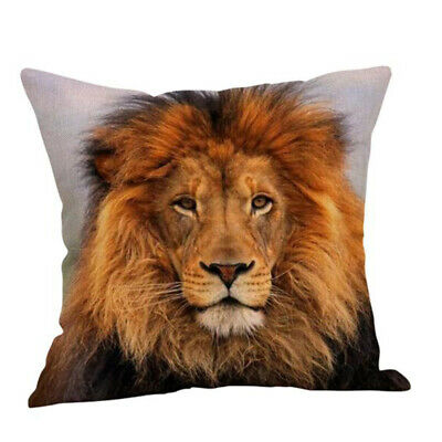 Animal Portrait Tiger Lion Pattern Cushion Cover Pillow Cases Home Bedroom Decor