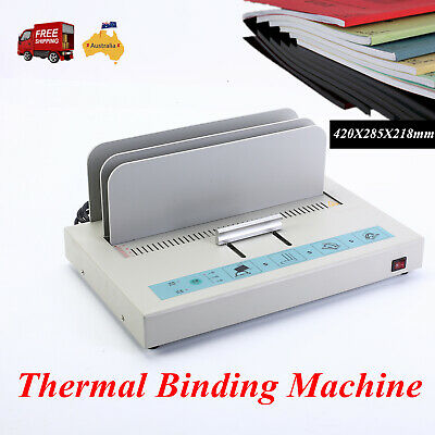 Hot Melt Thermal Binding Machine Electric Book Binder for A4 Size paper Max 50mm