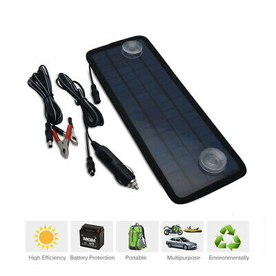 5W18V Solar Powered Solar Panel Battery Charger Maintainer for Auto Car