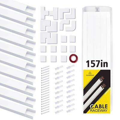 Cable Management, 15.75'' 10pcs Cable Raceway SUNKONG All-Inclusive Cord Organiz