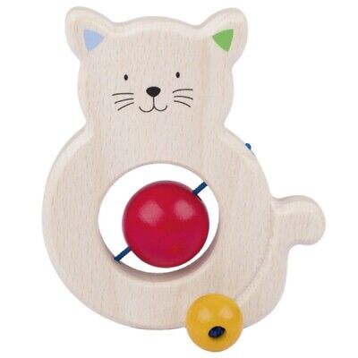 Cat Touch Ring / Wooden Teether Rattle Ring (737410)