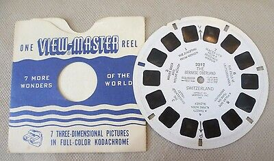 Vintage Viewmaster - Sawyer's Single Reel  2012 The Bernese Oberland Switzerland