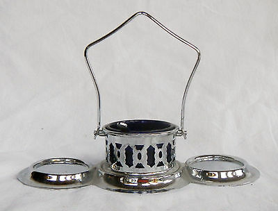 Vintage Table Breakfast Caddy / Cruet / Butter & Preserves - Folding Handle