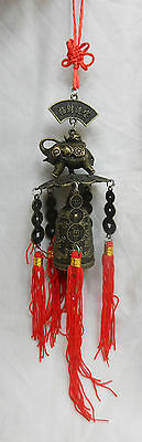 Feng Shui Bell with Elephant and Coins - BNIB