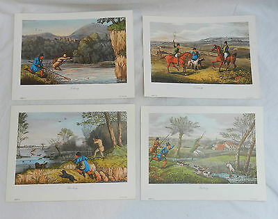Set of Four Antique Style Prints of Field Sports - Ready to Frame - New