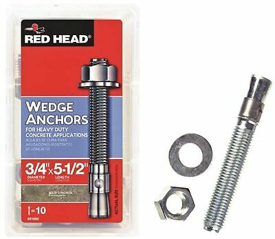 Red Head 02992 Truebolt Wedge Anchor, Steel