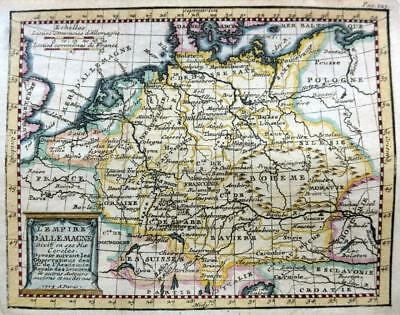 GERMANY  BY CLAUDE BUFFIER c1722  GENUINE COPPER ENGRAVED ANTIQUE MAP