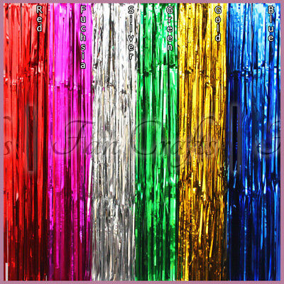 Metallic Fringe Foil Curtain Shimmer Background 2m 3m