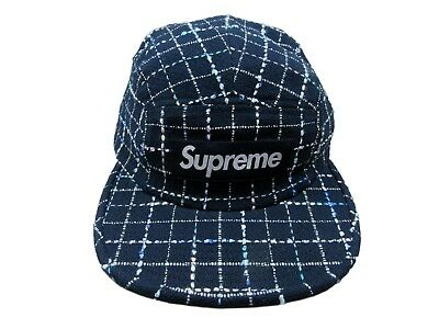 4980d516416 SUPREME BOUCLE CAMP Cap Box Logo Navy Blue F W 2018 FW18H91 New ...