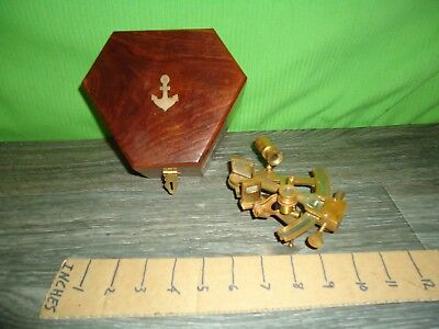 made in india navy sextant with wooden box