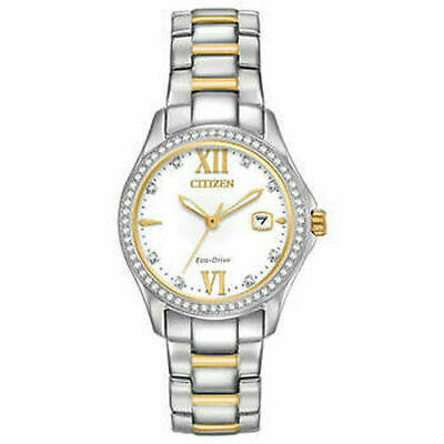 Citizen FE1144-85B GEN 2  Ladies Eco-Drive Crystal Accented Bezel Two Tone Watch