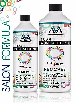 100% Pure Acetone Superior Quality Nail Polish Remover UV/LED GEL Soak Off