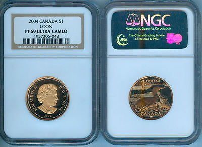 2004 Canada $1 Elusive  Loon  Ngc Pr69 Ultra Cam
