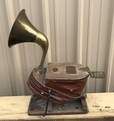 VTG Antique 1878 Siebe Gorman & Co Foot Bellows Diving Air Pump Mining HORN