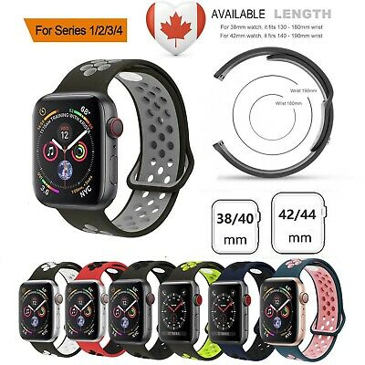 Sports Silicone Apple Watch Strap Band Bracelet For Series 4 3 2 1 38/40/42/44mm