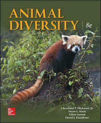 Animal Diversity 8th Edition by Larry S. Roberts Paperback Book Free Shipping!