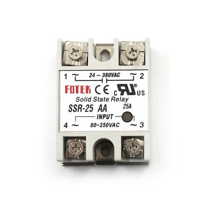 24V-380V 25A SSR-25AA Solid State Relay Module 80-250VAC AC-AC AS