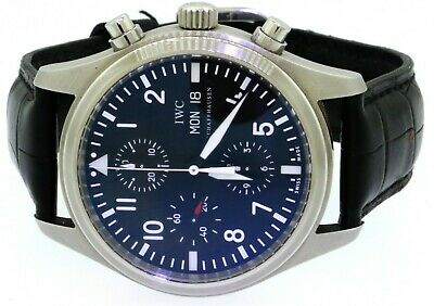 1838f55c4 IWC Schaffhausen SS 42mm day/date automatic chronograph black dial men's  watch