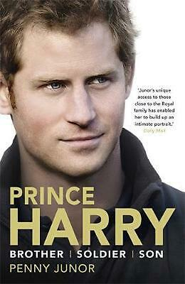 Prince Harry: Brother. Soldier. Son. Husband. by Penny Junor Paperback Book Free