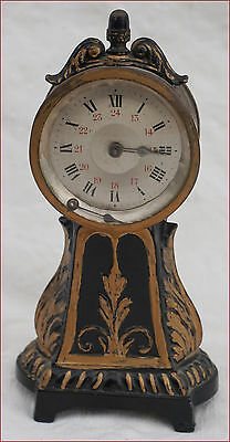 Swiss Desk 8 Days Clock Aaron Norman St Imier AN Depose 19th C