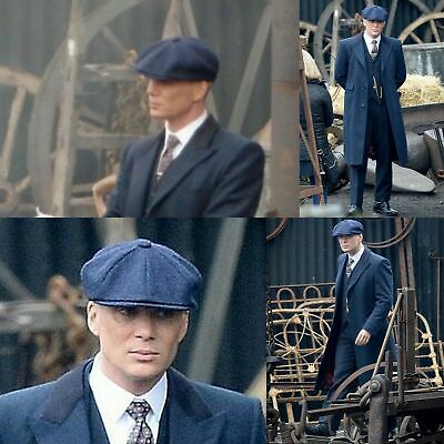 Men's Newsboy Cap Tommy Shelby Peaky Blinders Quality 100% Wool Series 5 BLUE
