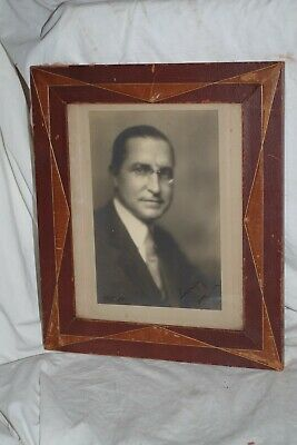 Pirie MacDonald antique photograph photo - signed: lovingly jim - leather frame