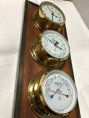 3er Set Wempe Chronometerwerke Hamburg Thermometer Hygrometer Barometer Messing
