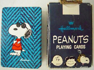 VINTAGE Snoopy Joe Cool 52 Playing Cards Mini Full Deck & Jokers - Excellent!