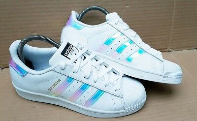 ADIDAS SUPERSTAR Turnschuhe Holographic Holo bunt Gr. 37 EUR