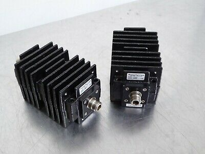 TB Lot of (2) Weinschel Model 40 Attenuator 40-6-34 6dB, 150W, Type N Connectors