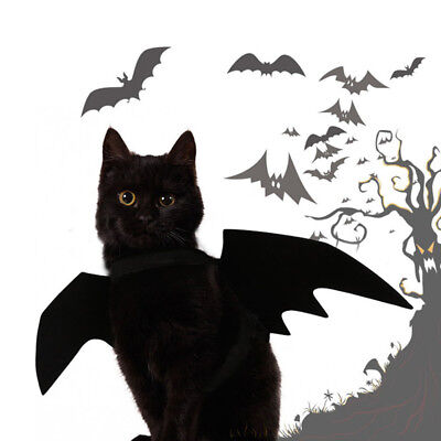 Pet Dog Cat Black Bat Wings Cosplay Wings Costume Party Halloween Decoration  AS