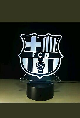 Night Lights BARCELONA lionel Messi 10 3D LED 7 Colour Night Light Touch Table Desk Lamp Gift Lighting