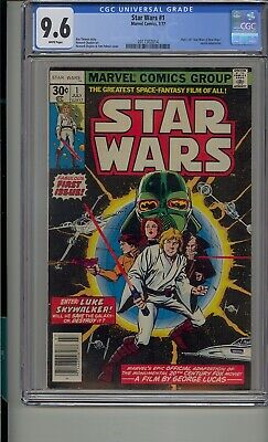 Marvel Star Wars #1 Cgc 9.6 1977 White Pages Mac
