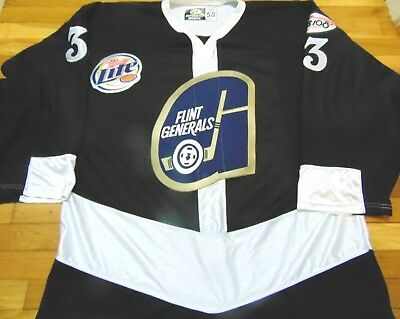 5e2e6c3362c Game Worn Authentic Ot Uhl Flint Generals Jan Chovan Hockey Jersey Size 58G