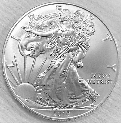 2019 American Silver Eagle BU 1 oz fine Coin US $1 Dollar Uncirculated U.S. Mint
