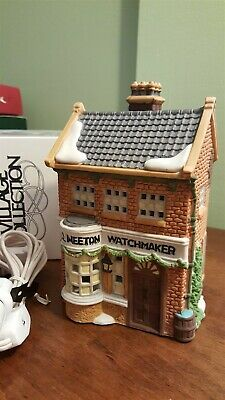Dept 56 Dickens Village Series GEO WEETON WATCHMAKER One of Merchant Shops 59269