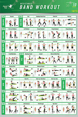 Art Print Fabric Poster Stretching Exercise BodyBuilding Guide 1 chart 24x36V304