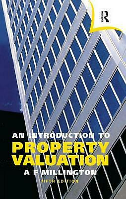 Introduction to Property Valuation by Alan Millington Hardcover Book Free Shippi